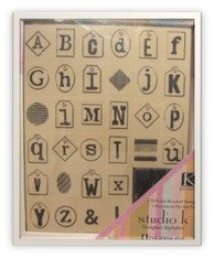 Inkadinkado Foam Mounted Stamps - Designer Alphabet