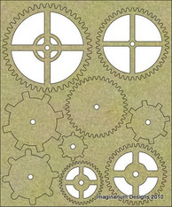 Chipboard die cut embellishments