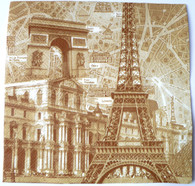 Paper Collage Napkins: Paris #1