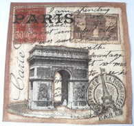 Paper Collage Napkins: Paris #3