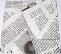 Paper Collage Napkins: News Print