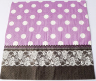 Paper Collage Napkins: Dots & Lace