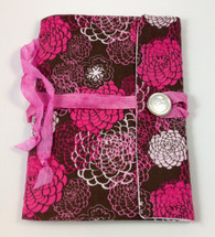 Fabric Art Journal: Pink Florals front view