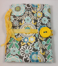 Fabric Art Journal: Daisy Garden front view