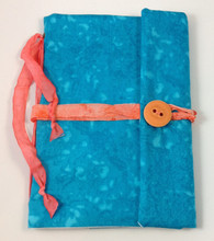 Fabric Art Journal: Aqualicious front view