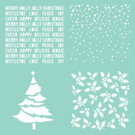 "Kaisercraft - 12 x 12"" Template - Christmas Quarters"