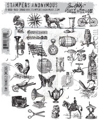 Tim Holtz Cling Mount Stamps- Tiny Things 2