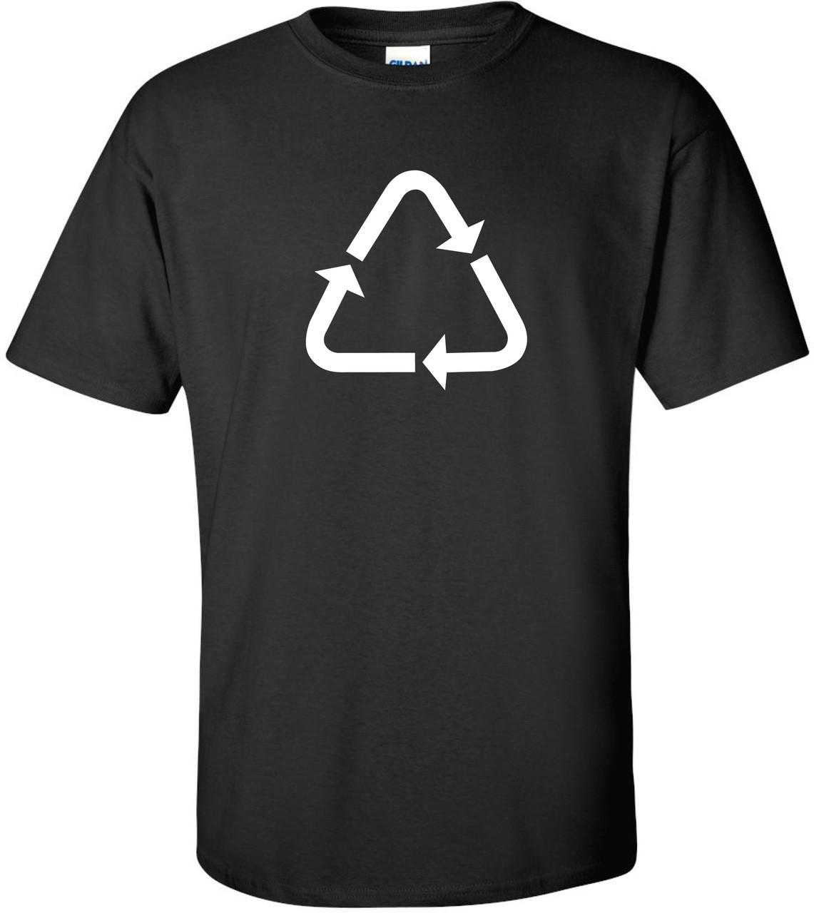 Recycle Triangle Symbol Sleek Logo T Shirt Interspace180