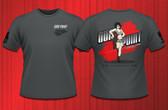 Gun Point Girl - SPWS Logo Shirt (Charcoal Grey)