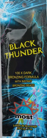 Most Black Thunder 100X Dark Bronzing Formula with Instant Bronzing Beads Tanning Lotion Packet