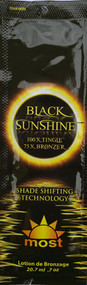 Most Black Sunshine 100X Tingle 75X Bronzer Shade Shifting Technology Tanning Lotion Packet