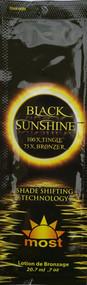 Most Black Sunshine 100X Tingle 75X Bronzer Shade Shifting Technology Tanning Lotion Packet