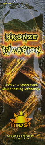 Most Bronze Invasion Level 25X Bronzer Shade Shifting Technology Tanning Lotion Packet
