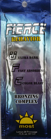 Most Fierce Behavior Ultra Dark Fast Absorbing Color Blast Bronzing Complex Tanning Lotion Packet