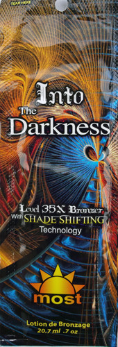Most Into The Darkness 35X Bronzer Shade Shifting Technology Tanning Lotion Packet