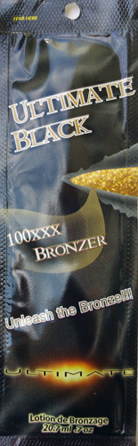 Ultimate Black 100XXX Black Bronzer Tanning Lotion Packet