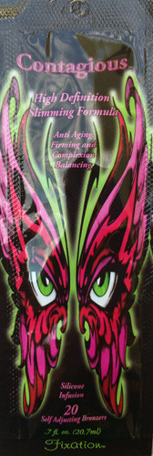 Ultimate Contagious High Definition Slimming Formula 20 Self Adjusting Bronzers Tanning Lotion Packet