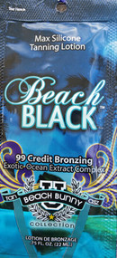 Tan Incorporated Beach Black 99 Credit Bronzing Exotic-Ocean Extract Complex Tanning Lotion Packet