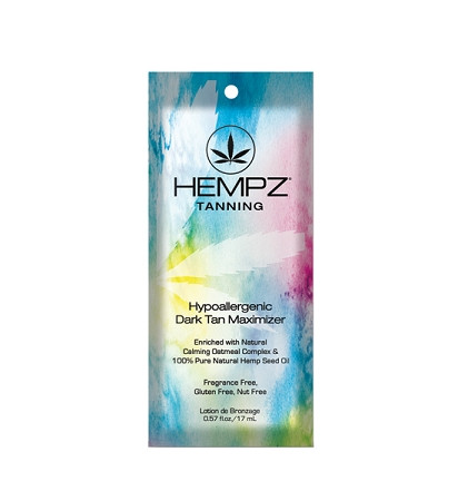 Hempz  Hypoallergenic Dark Tan Maximizer 100% Pure Natural Hemp Seed Oil Tanning Lotion Packet