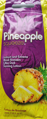 Squeeze Pineapple Squeeze Instant and Extreme Black Bronzers Ultra Dark Tanning Lotion