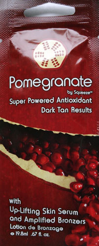 Squeeze Pomegranate Super Powered Antioxidant Dark Tan Results Up Lifting Skin Serum Tanning Lotion Packet