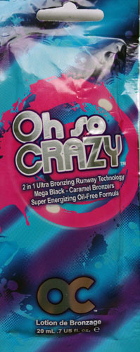 OC Oh So Crazy Ultra Bronzing Super Energizing Oil Free Tanning Lotion Packet