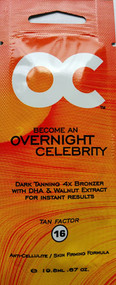 OC Overnight Celebrity Dark Tanning 4X DHA & Walnut Extract Bronzer Tanning Lotion Packet