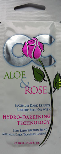 OC Aloe & Rose Rosehip Seed Oil Hydro Darkening Technology Tanning Lotion Packet