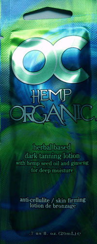 OC Hemp Organic Herbal Based Hemp Seed Oil Ginseng Tanning Lotion Packet