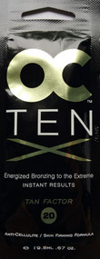 OC Ten X Energized Bronzing Extreme Instant Results Tanning Factor 20 Tanning Lotion Packet