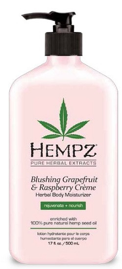 Hempz Blushing Grapefruit & Raspberry Creme Herbal Body Moisturizer enriched with 100% Pure Hemp Seed Oil