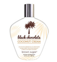Brown Sugar Black Chocolate Coconut Cream Advanced 200X Black Bronzer Double Dark Chocolate Extract & Triple Coconut Cocktail Tanning Lotion