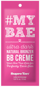 Supre #My Bae Ultra Dark Natural Bronzer BB Creme Tanning Lotion Sample Packet