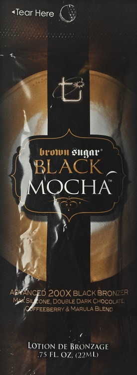 Brown Sugar Black Mocha Advanced 200X Black Bronzer Tanning Lotion Sample Packet