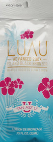 Tan Asz U Luau Advanced 200X Island Black Bronzer Tanning Lotion Sample Packet