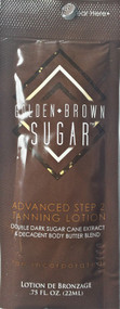Brown Sugar Golden Brown Sugar Advanced Step 2 Tanning Lotion Sample Packet