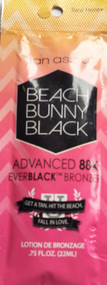 Tan Asz U Beach Bunny Black Advanced 88X EverBlack Bronzer Tanning Lotion Sample Packet