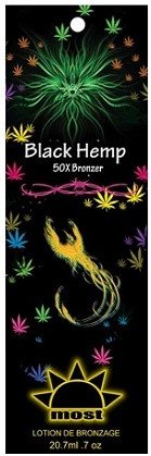 Most Black Hemp 50X Bronzer Tanning Lotion Sample Packet