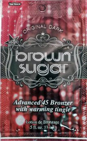 Brown Sugar Original Dark Brown Sugar Advanced 45 Bronzer with Warming Tingle Tanning Lotion Packet
