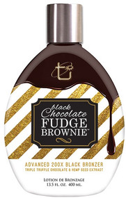 Tan Incorporated Black Chocolate Fudge Brownie Advanced 200X Black Bronzer Tanning Lotion