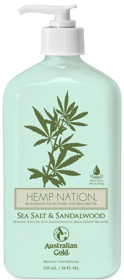 Australian Gold Hemp Nation Sea Salt & Sandalwood Moisturizing Tan Extender with Hemp Seed Oil