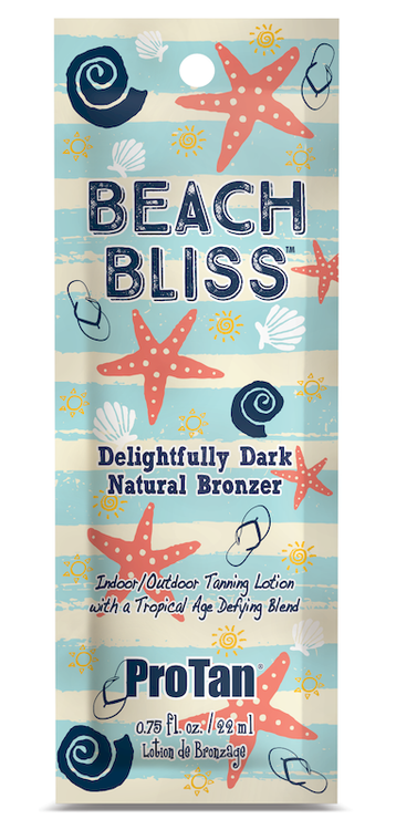 Pro Tan Beach Bliss Delightfully Dark Natural Bronzer Indoor/Outdoor Tanning Lotion Sample Packet