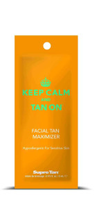 Supre Tan Keep Calm & Tan On Facial Tan Maximizer Tanning Lotion Sample Packet