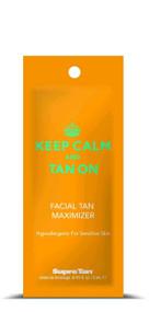 Supre Tan Keep Calm & Tan On Facial Tan Maximizer Tanning Lotion Sample Packet