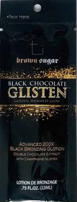 Brown Sugar Black Chocolate Glisten Advanced 200X Black Bronzing Glotion Tanning Lotion Sample Packet