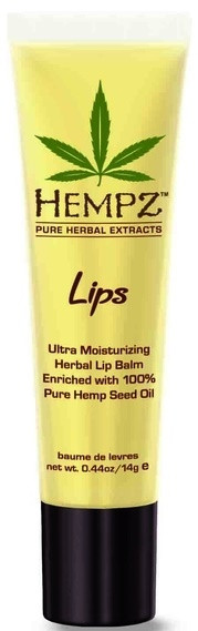 Hempz Lips Ultra Moisturizing Herbal Lip Balm enriched with 100% Pure Natural Hemp Seed Oil