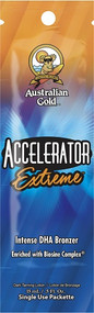 Australian Gold Accelerator Extreme Intense DHA Bronzer Enriched with Biosine Complex Tanning Lotion Packet