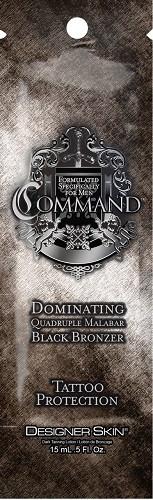 Designer Skin Command Dominating Quadruple Malabar Black Bronzer Tanning Lotion Packet