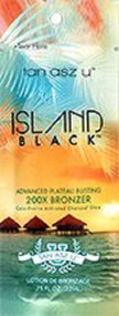 Tan Asz U Island Black Advanced Plateau Busting 200X Bronzer Tanning Lotion Packet