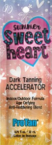 Pro Tan Summer SweetHeart Dark Tanning Accelerator Age Defying Anti-Reddening Blend Tanning Lotion Packet